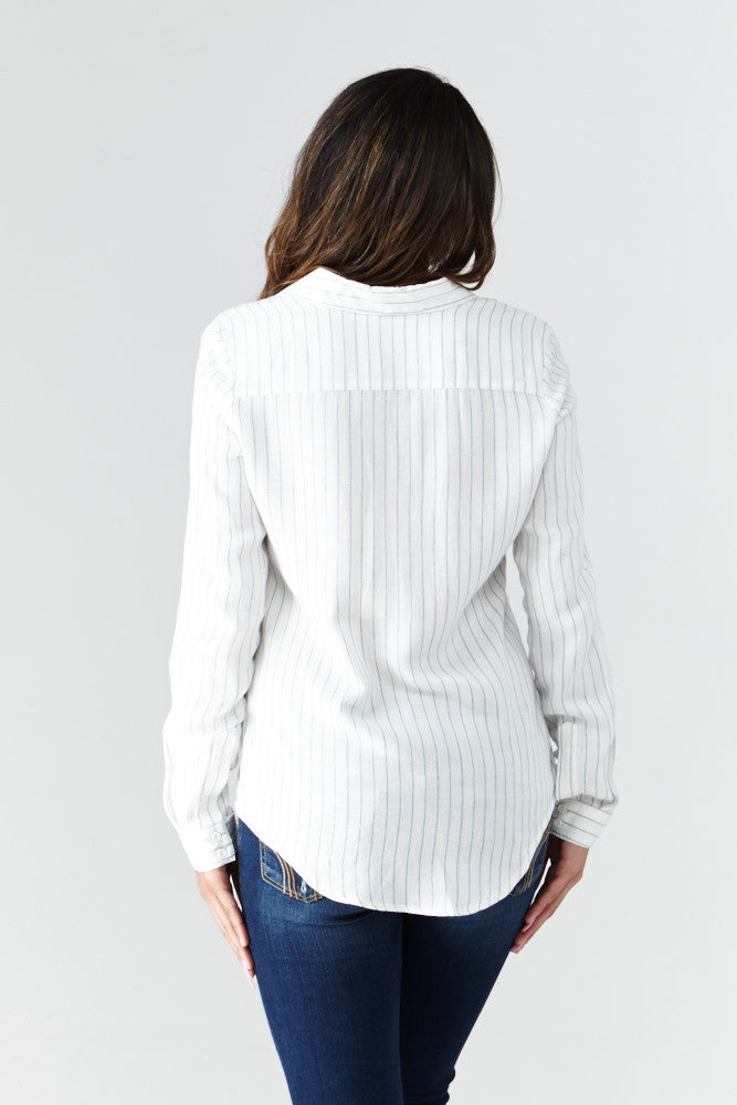 miss love: Calm & Collected Shirt in White - Good Row Clothing  - 5