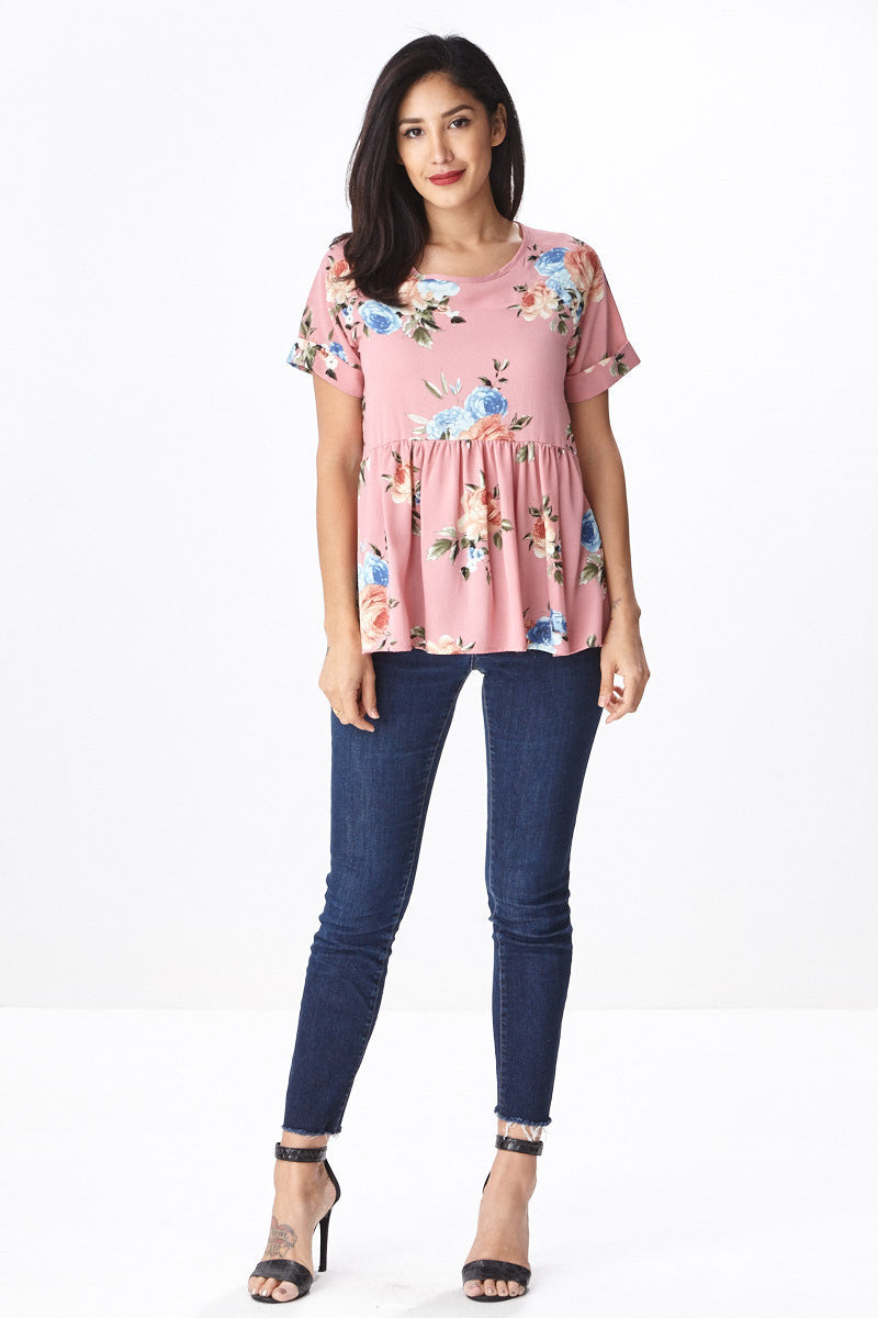Trendsetter Peplum Top in Pink - Good Row Clothing  - 2