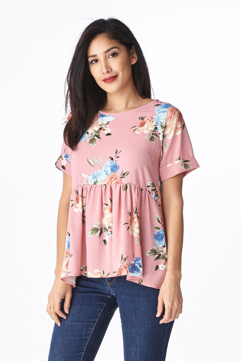 Trendsetter Peplum Top in Pink - Good Row Clothing  - 3