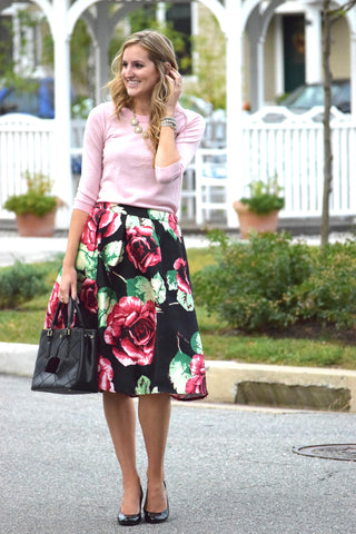Roses and Champagne Skirt! - Good Row Clothing  - 1
