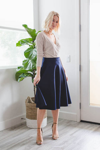 Divinity Floral Skirt in Navy