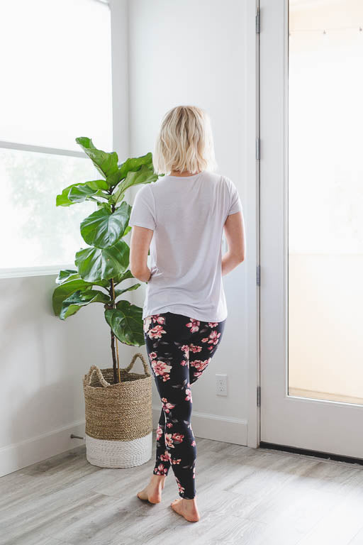 Floral Bound Leggings