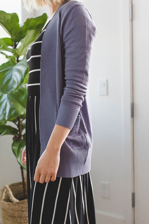 The Everyday Cardigan in Ash Blue