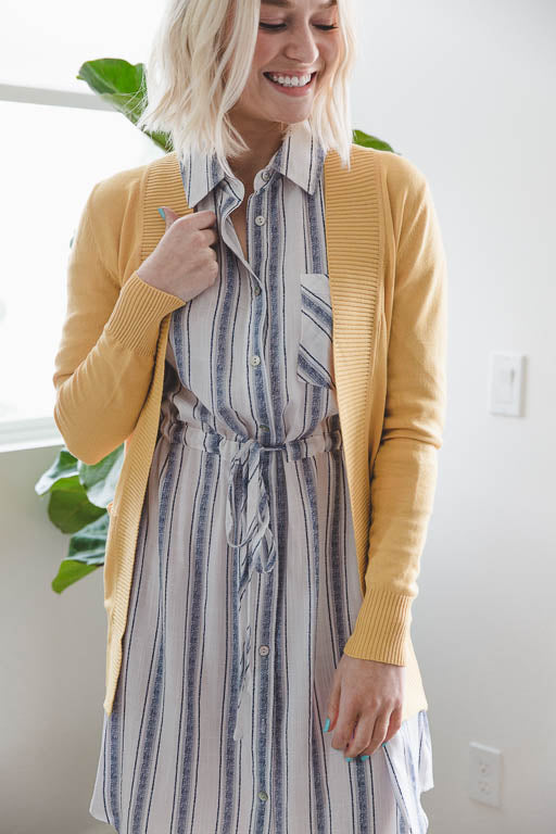 The Everyday Cardigan in Yellow