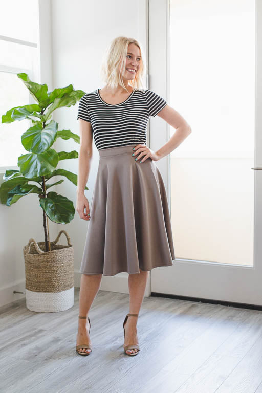 Truly A-Line Skirt in Charcoal