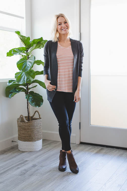 The Everyday Cardigan in Charcoal