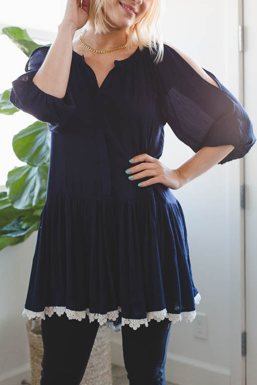 Attention to Detail Tunic in Navy