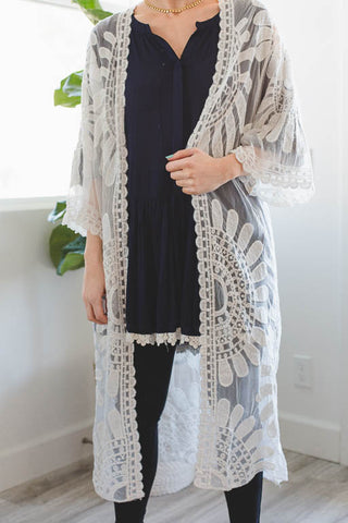 Wrapped in a Dream Tunic in White