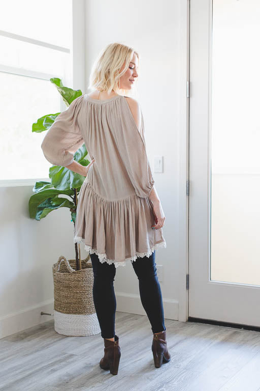 Attention to Detail Tunic in Taupe
