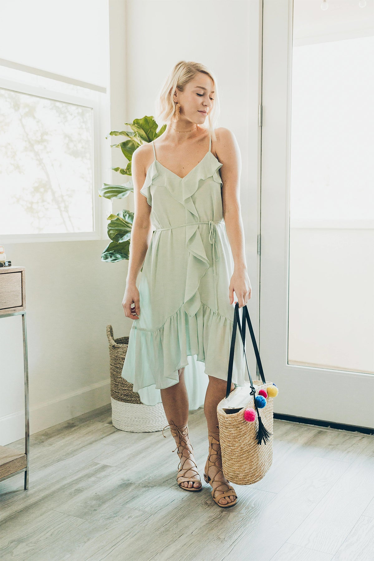 Everly: A Summer Nights Dream Dress in Sage