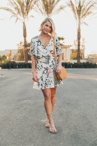 Everly: Off to Brunch Floral Dress