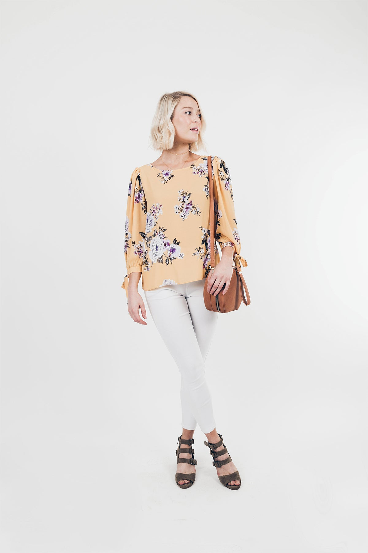 Everly: Shine Bright Floral Blouse