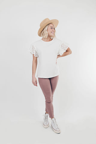 LARA: Solid Style Jeggings in Mauve