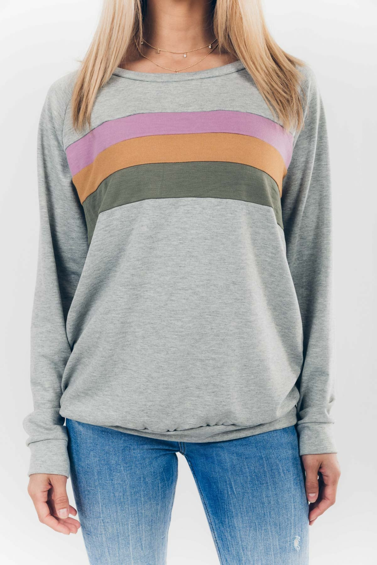 Boardwalk Dreams Sweatshirt in Heather Grey