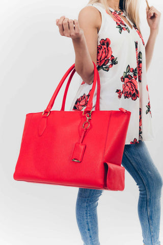 Blush: Cool with it Cooler Bag in Red