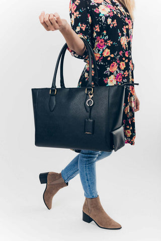Blush: Cool with it Cooler Bag in Black