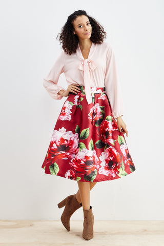 Roses Are Red Skirt! - Good Row Clothing  - 1
