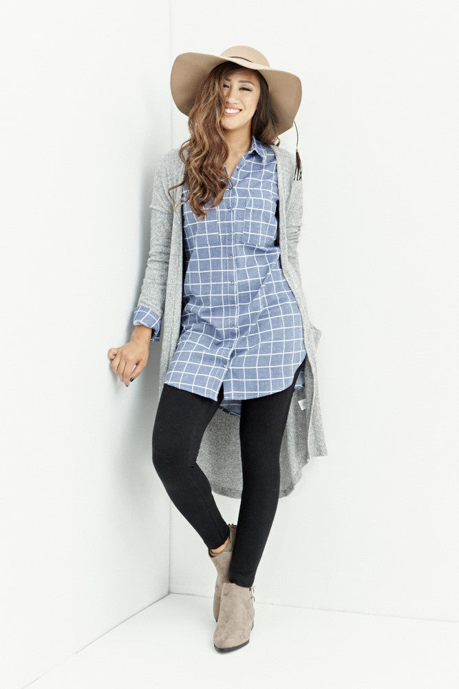 miss love: Everyday Denim Chambray Tunic - Good Row Clothing  - 3