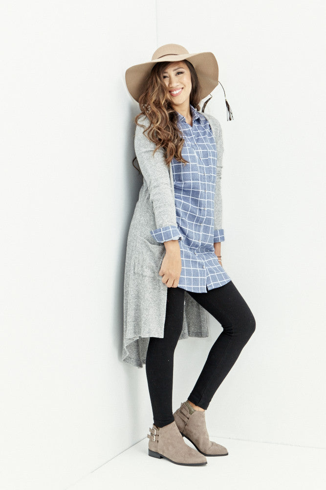 miss love: Everyday Denim Chambray Tunic - Good Row Clothing  - 5