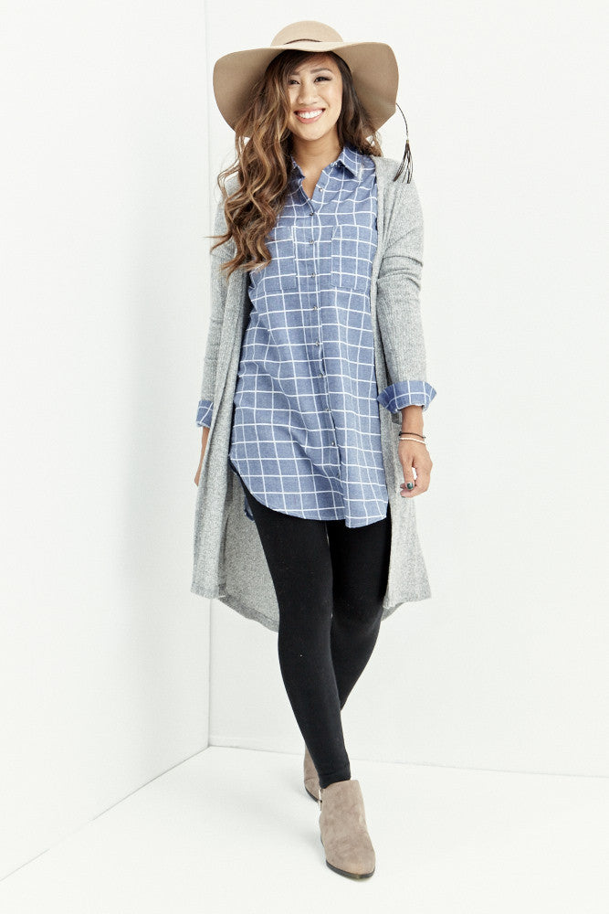 miss love: Everyday Denim Chambray Tunic - Good Row Clothing  - 1