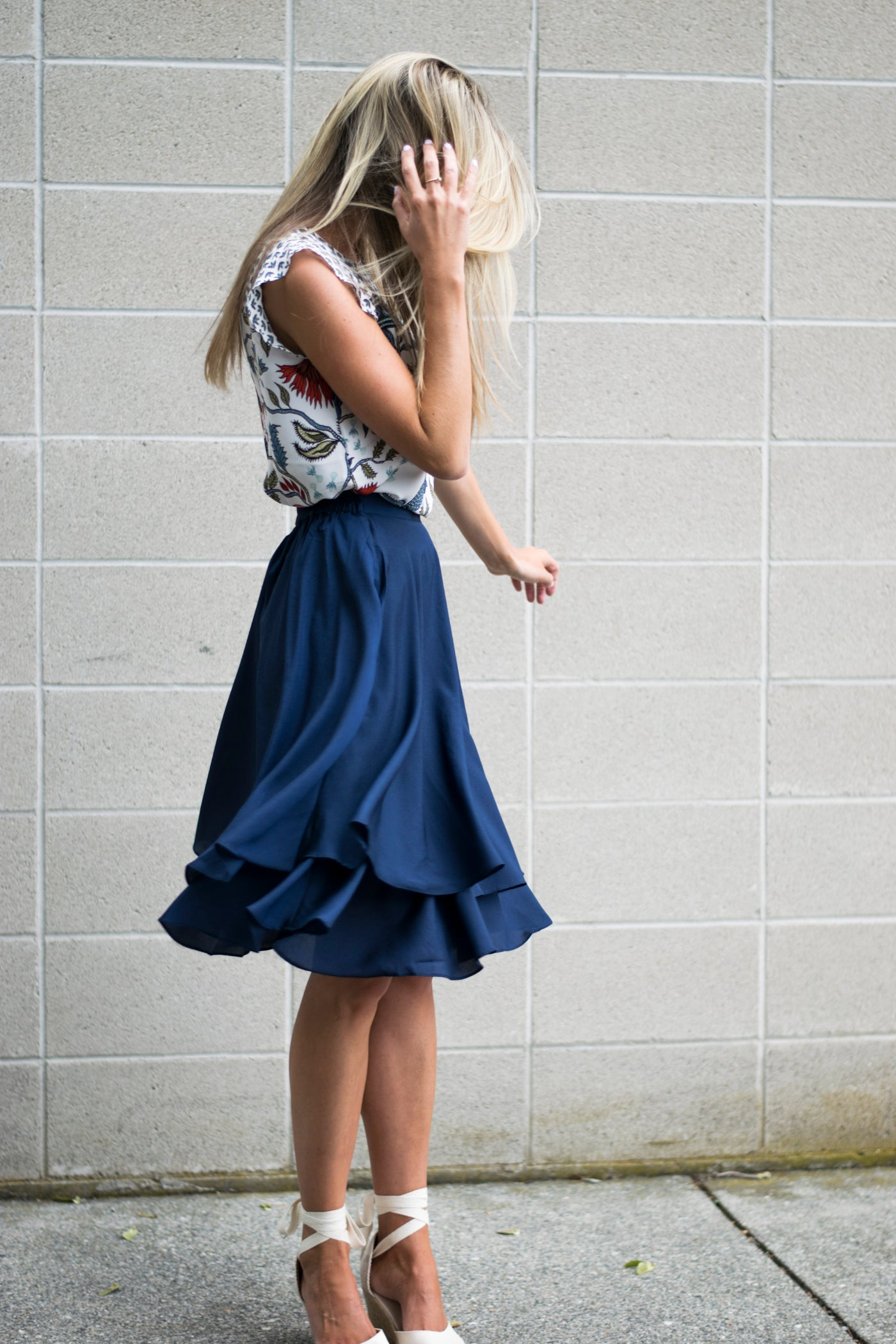 Dance and Twirl Skirt in Navy