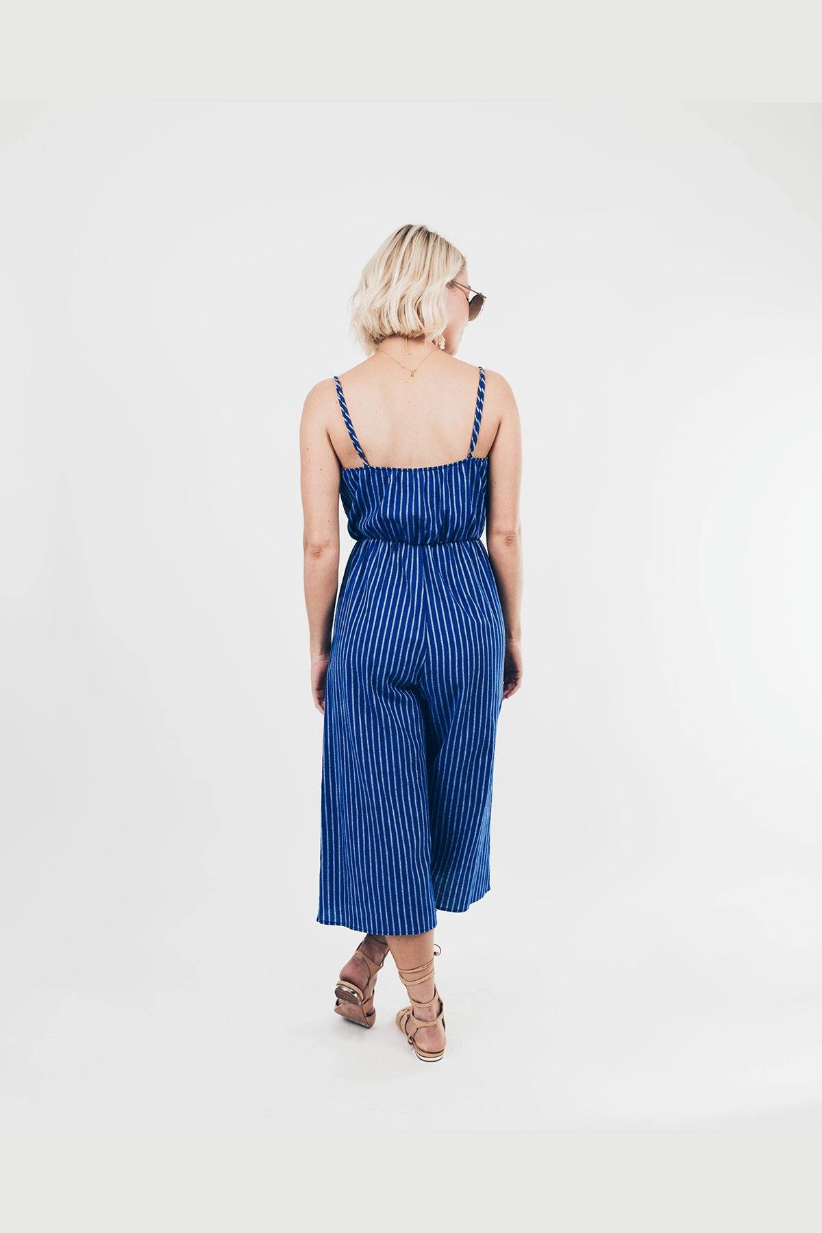 Paradise Found Striped Jumpsuit