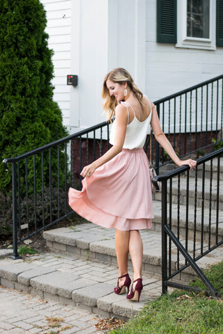 Dance and Twirl Skirt in Blush