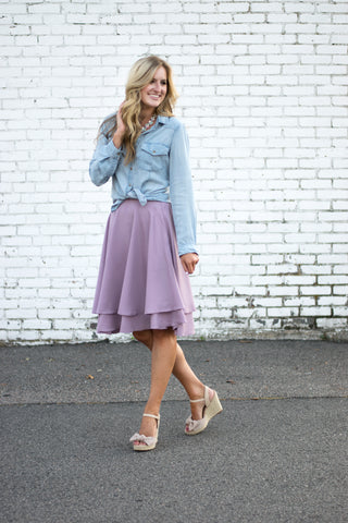 Dance and Twirl Skirt in Lavender