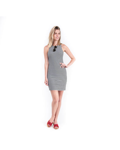 Ginny Striped Sleeveless Dress for Gasparilla Tampa