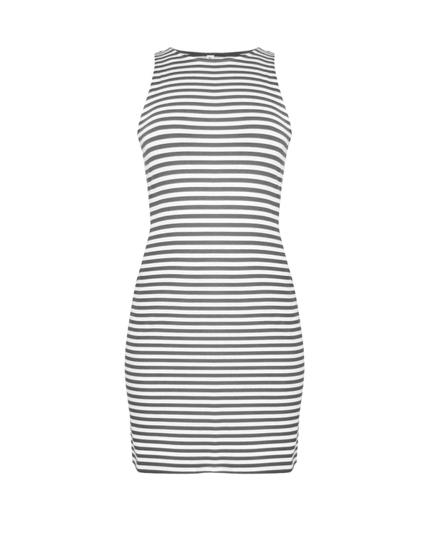 Ginny sleeveless stripes dress