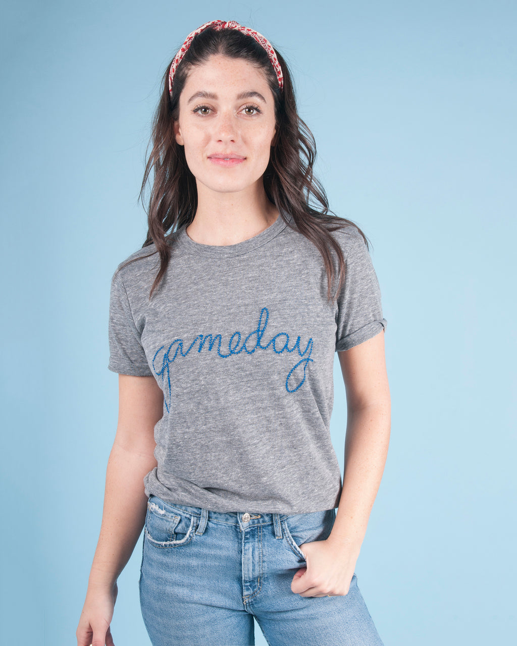 """gameday"" Embroidered Tee"