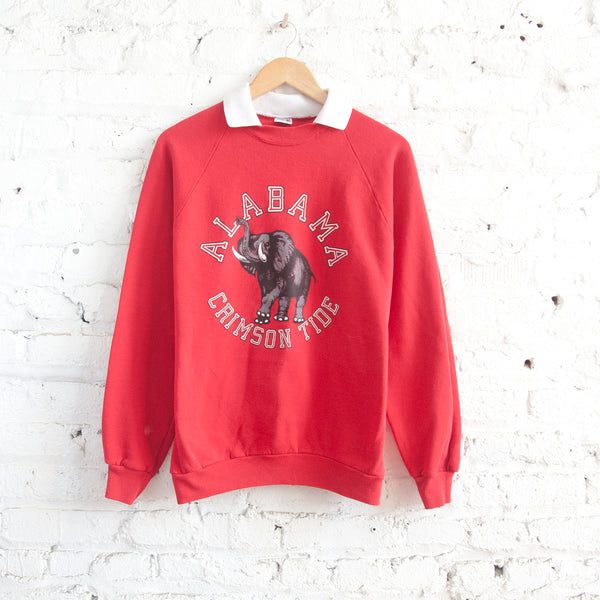 Alabama White Collar Sweatshirt