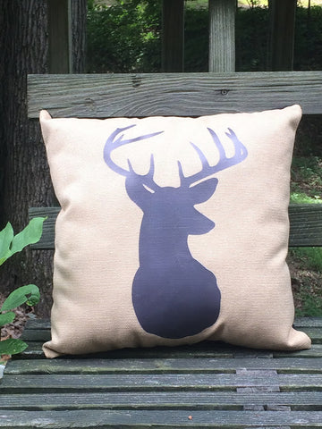 Deer Head - Throw Pillow