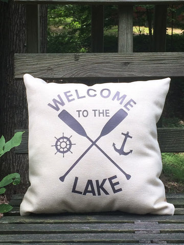 Welcome To The Lake - Throw Pillow