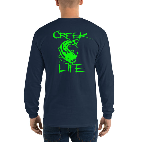 Creek Life Long Sleeve T-Shirt - Neon Green