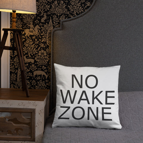 No Wake - Throw Pillow