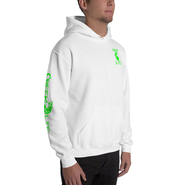 Creek Life Hooded Sweatshirt - Neon Green