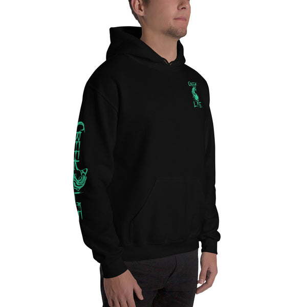 Creek Life Hooded Sweatshirt - Teal