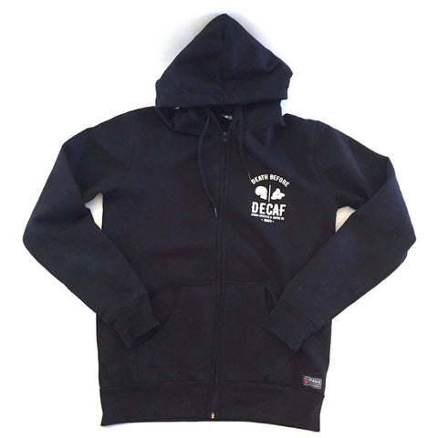 Death Before Decaf STRNG Zip up Hoodie