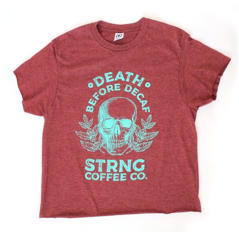 Death Before Decaf DoubleCrop Tee