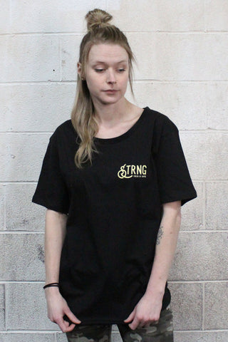 STRONG COFFEE oversize tee for woman black