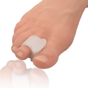 Dr. Frederick's Original Bunion Toe Spacers - 2 Pieces - Temporary Bunion Corrector - Soft Gel Bunion Splint Toe Separators - Fast Bunion Relief - Wear with Shoes - Women & Men