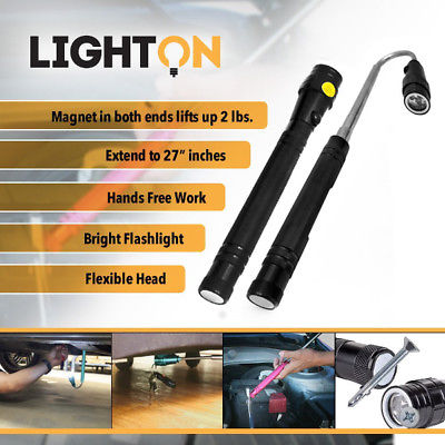 Flexible Telescopic Magnetic Flashlight 3 in 1 Magnet Expandable 3 LED Lights