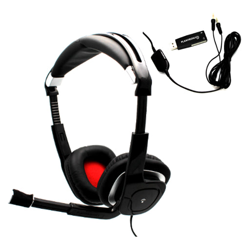 Plantronics Audio 750 DSP Stereo USB Headset for Skype, Music & Gaming PC & Mac