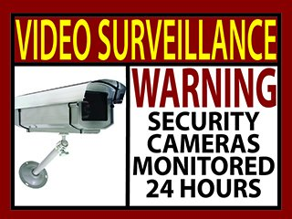 6 Video Surveillance Warning Sticker Sign Home Business Security Camera 3x4 in