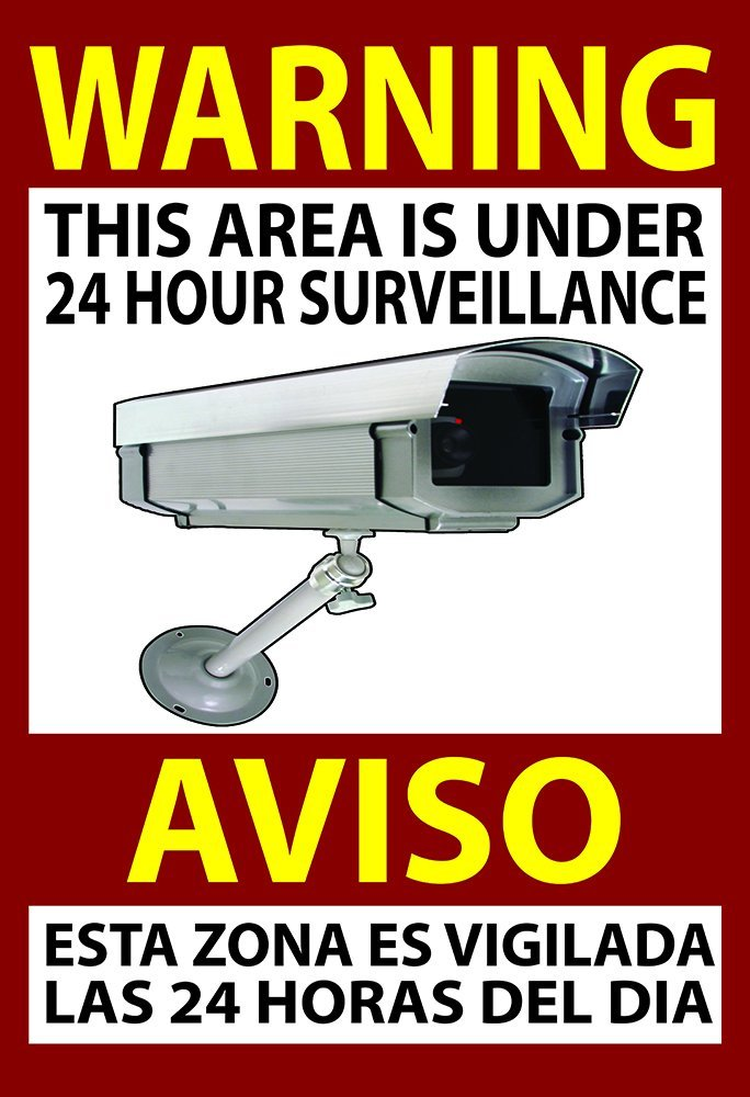 Warning Security Sign Video Surveillance Sticker Camera Home Business 13x19