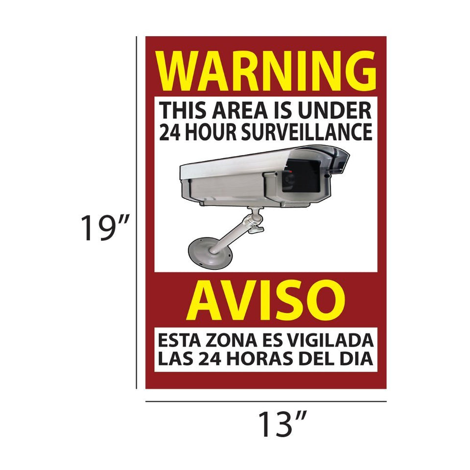 Warning Security Sign Video Surveillance Sticker Camera Home Business 13x19""