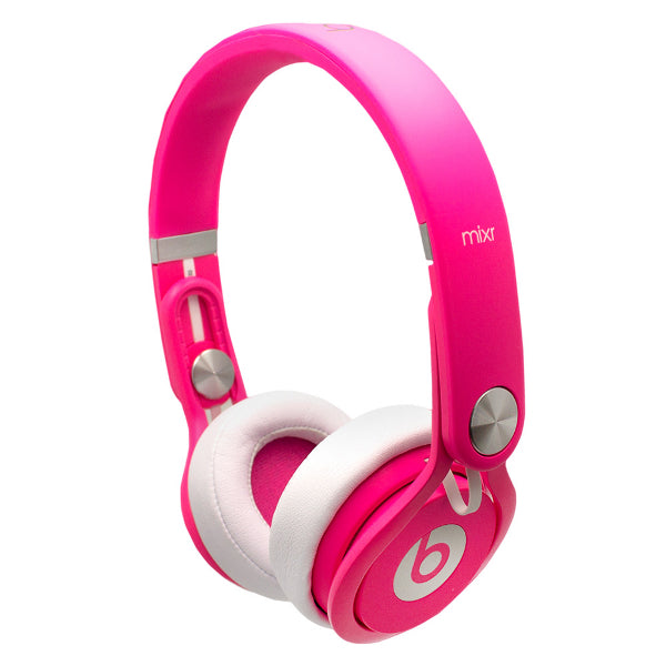 Beats By Dr. Dre Beats Mixr Professional DJ Headphones Neon Pink DISPLAY MODEL
