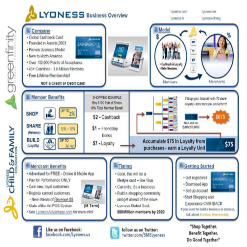 Lyoness 25 Pkg  Business Overview Full Color 80lb Cover Glossy 11x17