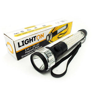 Portable Flashlight 3 in1 Emergency LED Magnetic Base 29 LED Light Emergency Kit